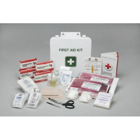 """Kit, First Aid, General Purpose Use, 3-1/2"""" x 3-1/2"""" x 1-3/4"""""""