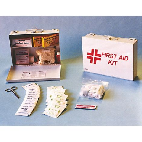 """Kit, First Aid, General Purpose, Small Office, 9""""W x 2-1/2""""D x 9""""L"""