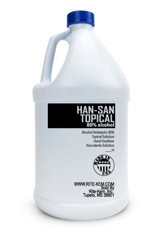 HAN-SAN TOPICAL 80  Hand Sanitizer