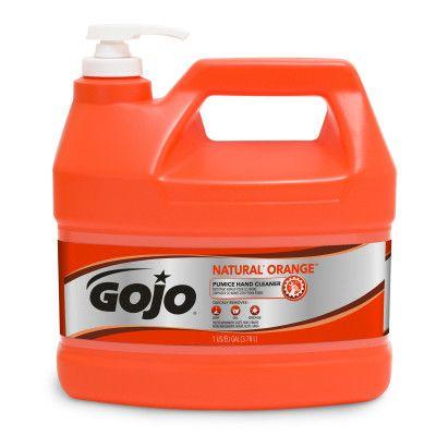 GOJO® NATURAL* ORANGE™ Pumice Hand Cleaner 1 Gallon with Pump Dispenser