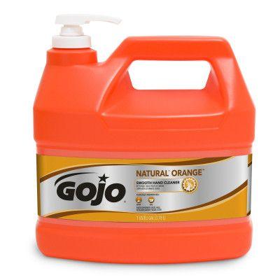 GOJO® NATURAL* ORANGE™ Smooth Hand Cleaner 1/2 Gallon with Pump Dispenser