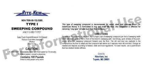 SWEEPING COMPOUND TY I